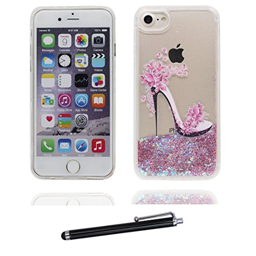 "iPhone 6 Plus Hülle, iPhone 6S Plus Handyhülle Cover 5.5"", (Mädchen Umbrella) Liquid Fließendes Glitzer Bling Bling Star Floating sparkles, iPhone 6 Plus Case 5.5"", Shell Anti-Beulen & Touchstift # 8"
