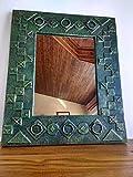 Espejo de pared decorativo con marco de madera reciclada de palet hecho a mano