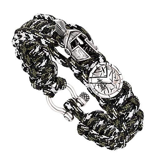 Armband Armreif,Schmuck Geschenk, Men Bracelet/Sparta/Pulseira Masculina/Luxury Camping Outdoor Survival Handmade Rope Bracelets Bangles Vintage Women Bracelets Q-199 20cm