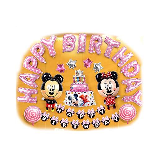 (Siyushop Mickey Mouse Charakter Birthday Party Supplies, Kindergeburtstag Party Dekoration - für Dekorationen, Foto Hintergrund oder Requisiten - für Kinder und Erwachsene (Color : 3))