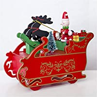 Weihnachten Dekor Türhänger von MCYs, Kreatives Weihnachtshölzerne Spieluhr Geschenk Weihnachtsschlitten Tischplattendekoration preisvergleich bei billige-tabletten.eu