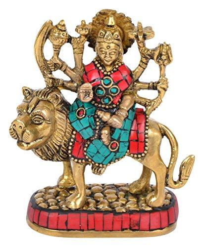 Cosmo-Craftvilla Goddess Durga Maa Mata Rani Idol Statue Murti For Home Temple (4 cm x 8 cm x 10 cm)