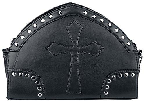 Banned Black Cross Handbag Handtasche schwarz schwarz