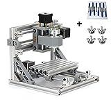 TopDirect CNC Fräsmaschine, Arbeitsbereich: 160 * 100 * 45mm, DIY CNC Router Maschine 3 Achsen Mini Holz PCB Acryl Fräsmaschine Metall Gravur Carving Maschine + 10 Stück 3.175mm CNC Fräsbits
