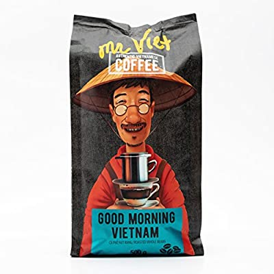 Coffee Beans Good Morning Vietnam | Mr. Viet Roasted Authentic Fresh Coffee, Suitable for All Coffee Machines by MR.VIET