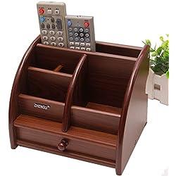 wysm control remoto marco de la caja de almacenamiento de teléfono de escritorio color creativo salón de madera mesa de centro de madera europea del estudiante de madera del papel