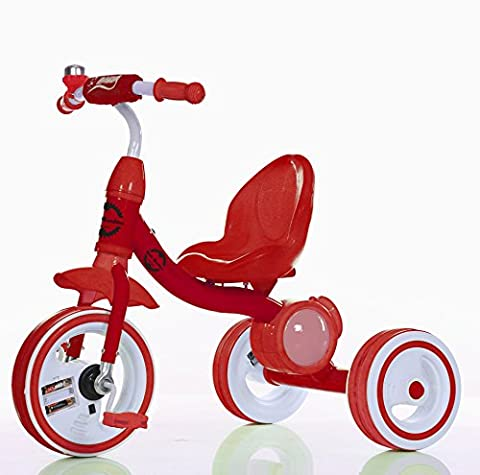 Little Bambino Kids Pedal Trike Stroller Bike for Child and Toddler Boys and Girls Age 3-6 Years Old Outdoor Tricycle | Available in Blue / Green / Pink / Red