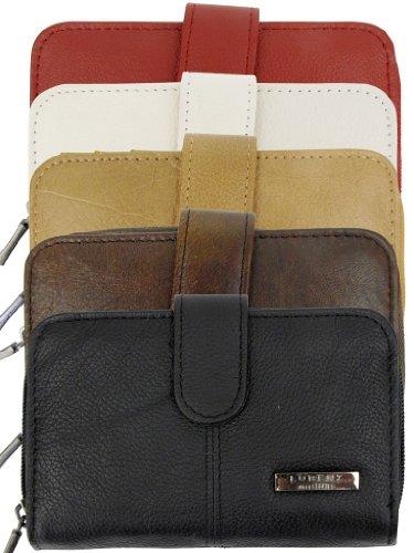 Con cerniera borsa Lorenz Signore, disponibile in diversi colori Rosso (Blood)