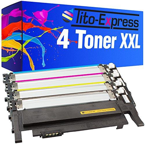 Preisvergleich Produktbild 4 Toner-Kartuschen XXL - für Samsung CLT-406S Platinum Serie Black Cyan Magenta Yellow