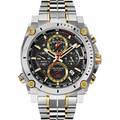 Bulova 98G228 Mens Precisionist Two Tone Steel Chronograph Watch