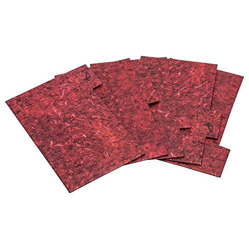Index5pkred Photo Album Company carte rigide Tab cloisons de séparation pour 4 x 6 (10 x 15 cm) Rouge marbré Albox700red Boîte de rangement. Lot de 5 Recharge en rouge profond Effet marbre