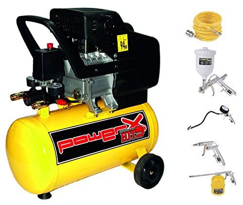 Compressore lubrificato ad olio 24 LT, 2 HP, 8 BAR, 170 LT/MIN,...