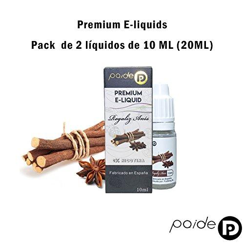 2 x 10ML Paide Premium E-Liquid - Sin nicotina - Líquido