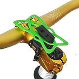 upanbike Bike Motorrad Lenkervorbau Halterung Bike Mount Double Seil Strap Lock kompatibel mit Universal Telefon und GPS, grün