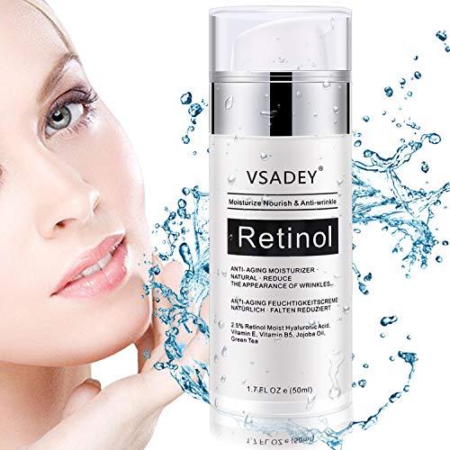 VSADEY Crema Antiarrugas Facial Día Noche 2.5% Retinol
