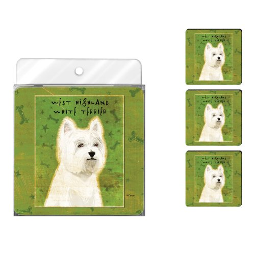 tree-free-greetings-nc37976-john-w-golden-4-pack-artful-coaster-set-west-highland-terrier