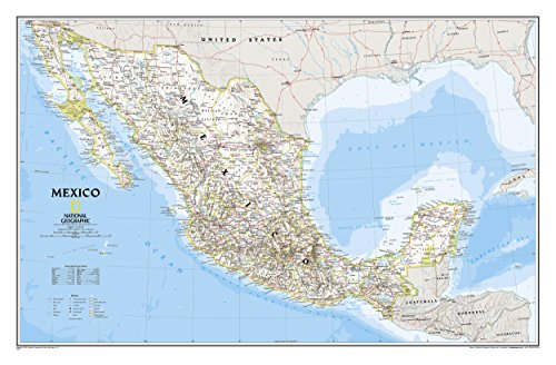Mexico Classic Wall Maps Countries & Regions (Reference - Countries & Regions)