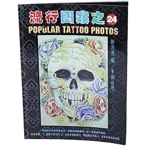 A4 52 Pagine Teschi Libro Scheletro Di Progettazione Di Riferimento Tatuaggio Schizzo Foglio Istruzioni Immagine