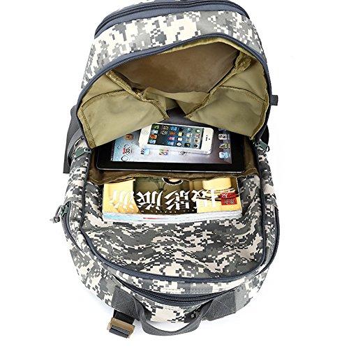 Yoxi militare assalto borsa a tracolla molle regolabile Sling zaino da combattimento tattico zaino, Camouflage#3 Khaki