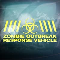 ZOMBIE OUTBREAK VEHICLE Funny Car/Window/Bumper JDM DUB EURO Vinyl Decal Sticker (Yellow) by CCG - Funny Car Decal Sticker