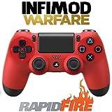 Manette Rapid Fire Infimod Warfare PS4 Rouge