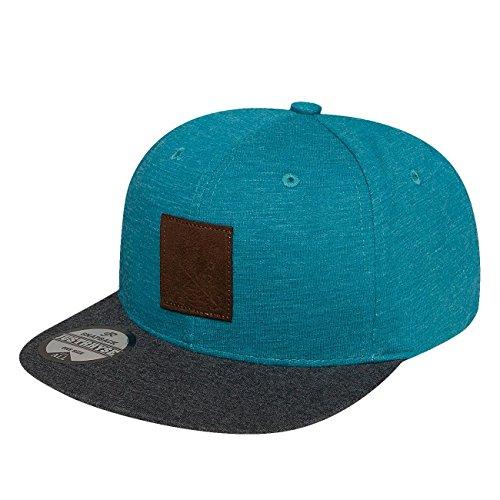 Preisvergleich Produktbild Just Rhyse Herren Caps / Snapback Cap Palma türkis Verstellbar