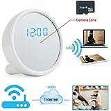 Toughsty 8GB 1920x1080P HD Onvif WiFi IP Inalámbrico Cámara Oculta Reloj Detección de Movimiento Videocámara Apoyo Vigilar Remoto por APP de iPhone o Android 7/24 Horas de Trabajo