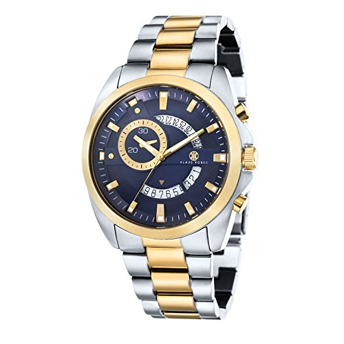 Klaus Kobec KK-20009-33 Mens Porter Two Tone Gold Plated Watch