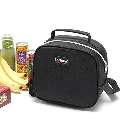 Yvonnelee borsa frigo da 5 litri, adatta per lavoro, scuola, pic-nic, ciclismo, spesa, per tutta la famiglia-nero
