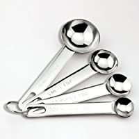 Simple Basic Goods 4 Piece Stainless Steel Measuring Spoon Set