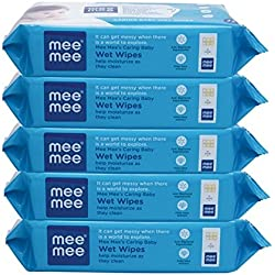 Mee Mee Baby Wet Wipes With Aloe Vera (72 Pcs X 5 Pack)