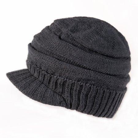 Nirvanna Designs Stripe Tube Beanie with Visor and Fleece, Smoke by Nirvanna Designs Fleece-visor Beanie