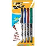 BIC Roller Z4 + stylos pointe Fine 4/Pkg-divers coloris