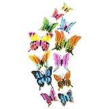 Malloom 12x 3D Schmetterling Wandaufkleber Kühlschrankmagnet Room Decor Aufkleber Applique Home Decor