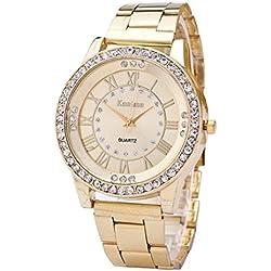 HARRYSTORE Women's Watches Crystal Rhinestone Stainless Steel Analog Quartz Wrist Watch