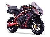 Pocket Course ZR 49 - Mini Moto Enfant 50cc - Rouge