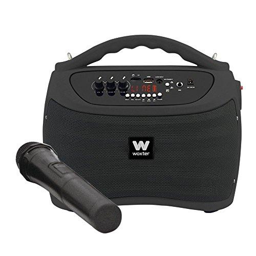 Woxter ROCK'N'GO BLACK, Altavoces portátiles de 40 W (USB, Bluetooth, tarjeta de...