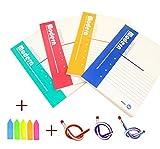 Cosanter Cuaderno Cubierta Suave de Líneas de Portátiles Libro de la Escritura A5 ,180 Páginas (Cuaderno + Engomadas de Conveniencia +Lápiz)