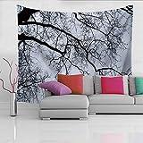 MRQXDPDe pie en el Bosque, Ramas Negras, Silueta, Cielo, aturdimiento, Tapiz, Tapiz, Dormitorio Decorativo, decoración para el hogar