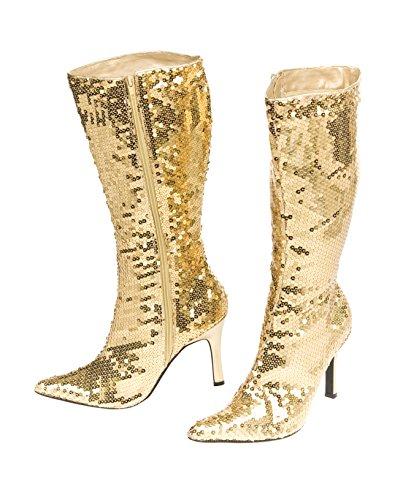 Stiefel Pailletten gold 40 (Stiefel Gold Pailletten)