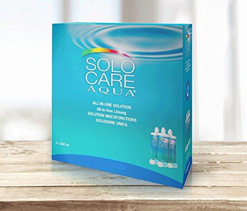 Ciba Vision Solo Care Aqua Pflegemittel für weiche Kontaktlinsen, Systempack 3x360 ml