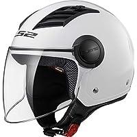 LS2 Casco Moto Of562 Airflow, Gloss White Long, Xxs