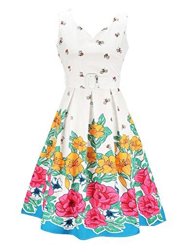 Vogstyle Damen Kleid Style 2-White