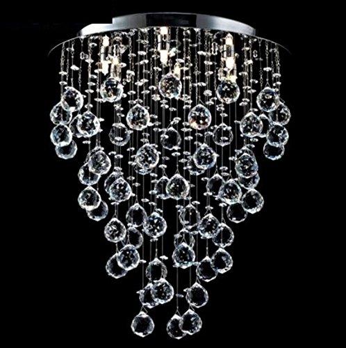 Casa Padrino Modern Decken Kristall Kronleuchter Nickel 45 x H 54 cm Antik Stil - Möbel Lüster Leuchter Hängeleuchte Hängelampe