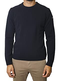 Paul /& Shark Men`s Lambswool Crew Neck Jumper C0P1061 Navy 752