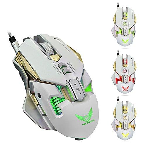 usdepant X3004000DPI 7Taste LED optische USB-mechanische Wired Gaming Maus für Gamer weiß weiß -