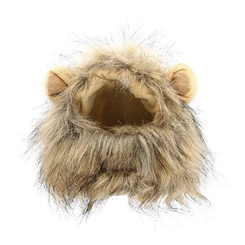 WAXDEOLM Hut für Hunde/Katzen - löwe Haar mähne Ohren, Kopf - Herbst - Winter kleidet kostüm auspuff schal Haustier hüten,Meter,Grau (Löwe Kopf Kostüm Für Hunde)