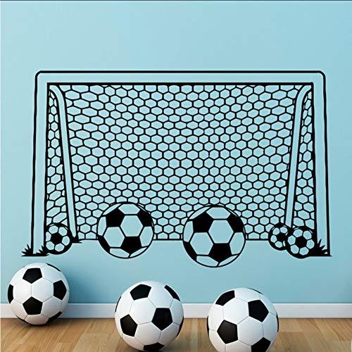 Jukunlun Junge WandFußball Fußball Tor Net Vinyl Aufkleber Für Kinderzimmer Dekoration Sport Schlafzimmer Dekor Kindergarten Kunst Poster 42X65 Cm (Wand, Fußball-tor)