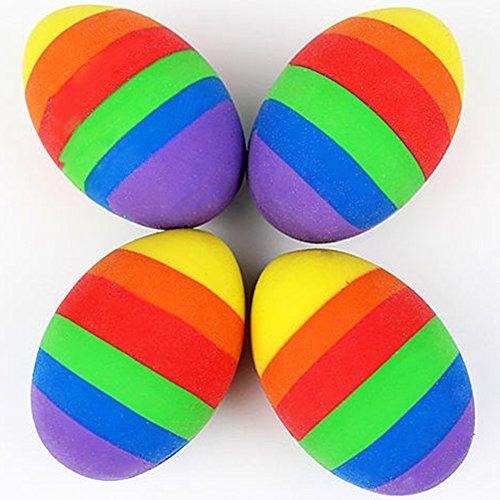 Blue Vessel Reizende Regenbogen-Ei-förmige Radiergummi-Spielwaren Oder Geschenke