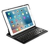 Inateck 68-BK2001NEW1-DE Ultra-thin Deutsche Bluetooth Tastatur, Keyboard Case für Apple iPad Air 2/pro 9.7, Smart cover mit automatischer Wake/sleep Funktion und Multi-Angle Ständer schwarz